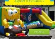 Inflable de bob esponja alquiler 0983946472