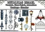 Metálicas ismael, hierro fortajado, puertas automáticas, cerrajería en general, pasamanos,