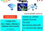 $90 curso cctv, redes, wireless, cableado estructurado