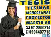 0994407718 asesoria y elaboracion de tesis de pregrado, tesis de postgrado, maestrias, doctorados