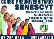 Curso preuniversitario de preparacion y nivelacion para estudiantes para el examen enes - senescyt