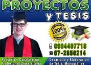 Proyectos de grado hacemos tesis, hacemos tesinas, resolvemos guias utpl 0994407718