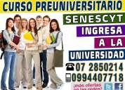 Ingresa a la universidad aprobando el examen de la senescyt curso preuniversitario de nivelacion