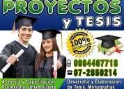 Desarrollamos proyectos y trabajos de investigacion tesis tesinas maestrias 0994407718