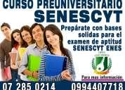 Curso de nivelacion senescyt para rendir examen nacional para la educaciÓn superior enes 0994407718