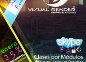 Clases diseño 3d - cinema 4d - adobe vía skype / a domicilio