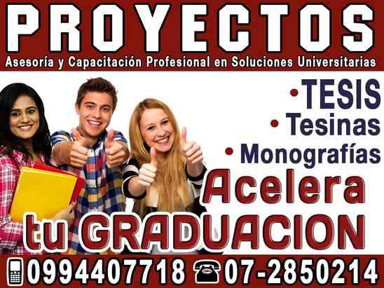 GRADUATE YA, asesoría y elaboración de tesis de grado en Cuenca, Proyectos Maestrias 0994407718