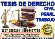 Asesoría para tesis de educación en cuenca, proyectos maestrías, tesis de derecho 0994407718