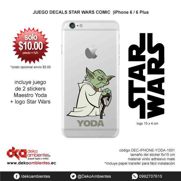 Vinilo decorativo Star Wars Ecuador YODA