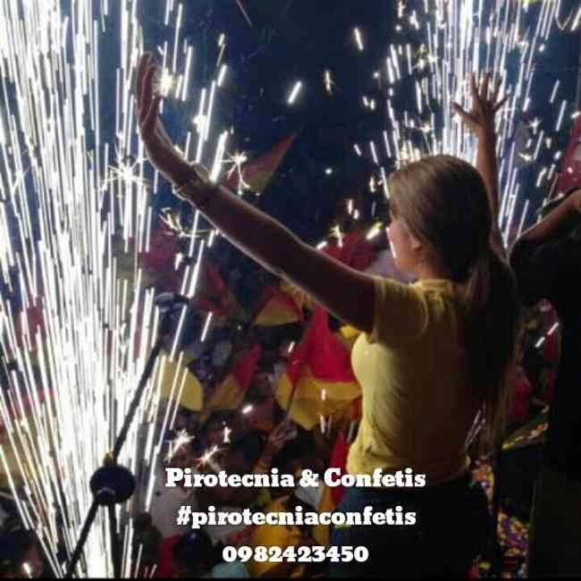 Juegos Pirotecnicos, Maquinas de Confetis, Pirotecnia fria