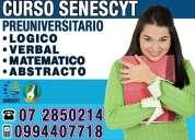 Examen enes del senescyt curso pre-universitario para ingresar a la universidad