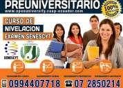 Examen del senescyt, curso preuniversitario en cuenca. ingresa a la universidad de tus sueños