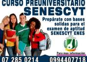 Examen enes de la senescyt en cuenca curso preuniversitario - 0994407718