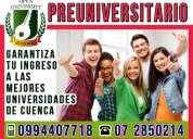 Cursos preuniversitario de nivelacion para la universidad estatal de cuenca. examen de la senescyt