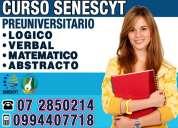 Curso preuniversitario en cuenca para el examen de la senescyt 0994407718