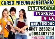 cuenca curso preuniversitario para el examen de aptitud de la senescyt 0994407718