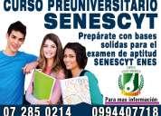 Senescyt - curso preuniversitario para el examen de ingreso a universidades publicas y privadas