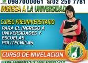 Curso preuniversitario para el examen enes de senescyt en cayambe, para ingresar a las universidades