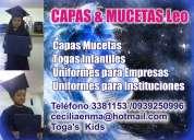 Capas togas uniformes infantiles fabricación  y alquiler
