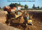 Excavadora, movimientos de tierra, desbanques, zanjas, derrocamientos, demoliciones 0999193805
