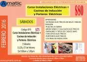 $80 curso instalaciones eléctricas + cocinas de inducción o porteros eléctricos