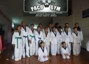 Paco gym gimnasio, escuela de taekwondo, aerobicos, bailoterapia, artes marciales, samurai