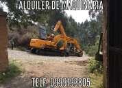 Alquiler excavadora, derrocamientos, excavaciones, desbanques,  movimientos de tierra