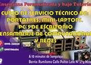 Curso personalizado: reparación de portátiles, pc-escritorio.