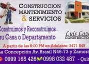 Mantenimiento construccion & servicios, acabados para la construccion, albañileria, pintura
