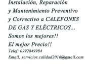 Se venden, instalan y reparan calefones de todas las marcas 0992849984