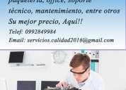 Reparación, formateo  de computadoras y laptops 0992849984
