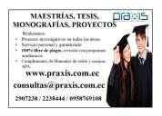 AsesorÍa personalizada en tesis, proyectos y monografÍas (0958769108)