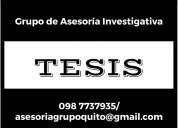 Asesoría de tesis, investigaciones, monografías, correcciones