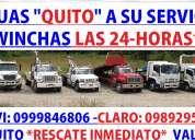 Rescate de vehiculos y maniobras peligrosas en gruas y winchas quito 0989295258
