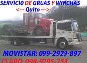 Servicio de grua y winchas pesadas y livianas las 24-horas para camiones y trailers