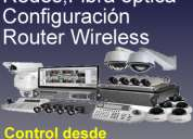 Cctv, redes, cableado estructurado, fibra Óptica, configuraciÓn router wireless