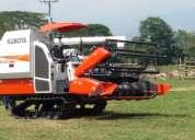 Venta  cosechadoras de  arroz y tractores  kubota  en colombia