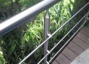 Lianoinox pasamanos en acero inoxidable y vidrio templado