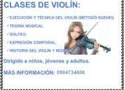 Clases particulares de múscia, violin