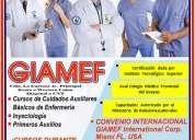 Cursos auxiliar de enfermeria