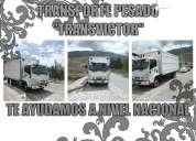 Mudanzas y fletes con camiones de todo tipo de tonelaje 0983487180