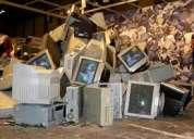 Retiro gratuito de chatarra electronica a domicilio, empresas.
