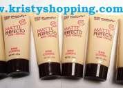 Lotes de bases de maquillaje liquida matte perfecto venta para negocio.