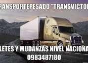 Transporte pesado para el servicio de fletes y mudanzas para su hogar y empresa