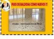 Pulimos y abrillantamos pisos de baldosas, marmol, marmettone
