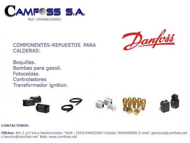 FOTOCELDAS Y TRANSFORMADORES DE IGNITION DANFOSS PARA CALDERAS