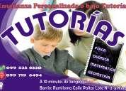 Ayuda pedagógica integral, nivelaciones (2,50 c/hora)