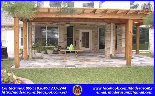 p rgolas de madera patio modelos de casas modelos de casas
