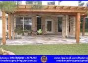 Pérgolas de madera-patio-modelos de casas-modelos de casas de campo-tumbaco-pifo-puembo-el quinche