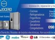 Instalación, reparación, mantenimiento y pintura de refrigeradoras, lavadoras, secadoras .etc..